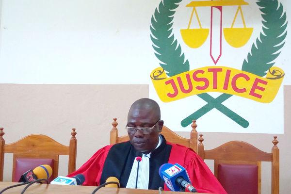 Cyriaque Dossa, President of the Cour de Répression des Infractions Économiques et du Terrorisme (CRIET), in August 2018