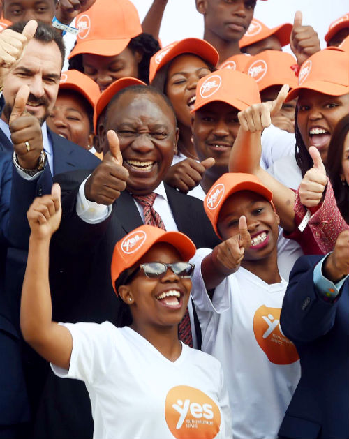Cyril Ramaphosa launches the Youth Employment Service Initiative.