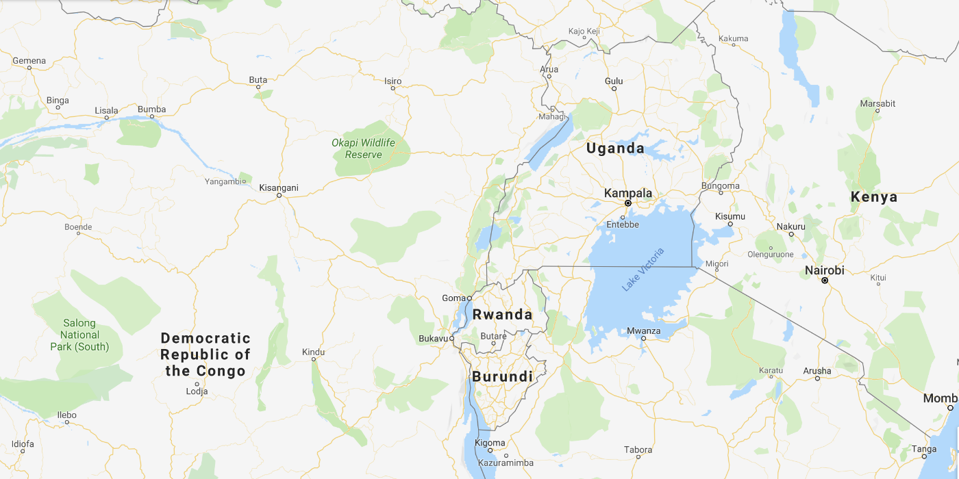 L'Ouganda et le Rwanda en Afrique centrale