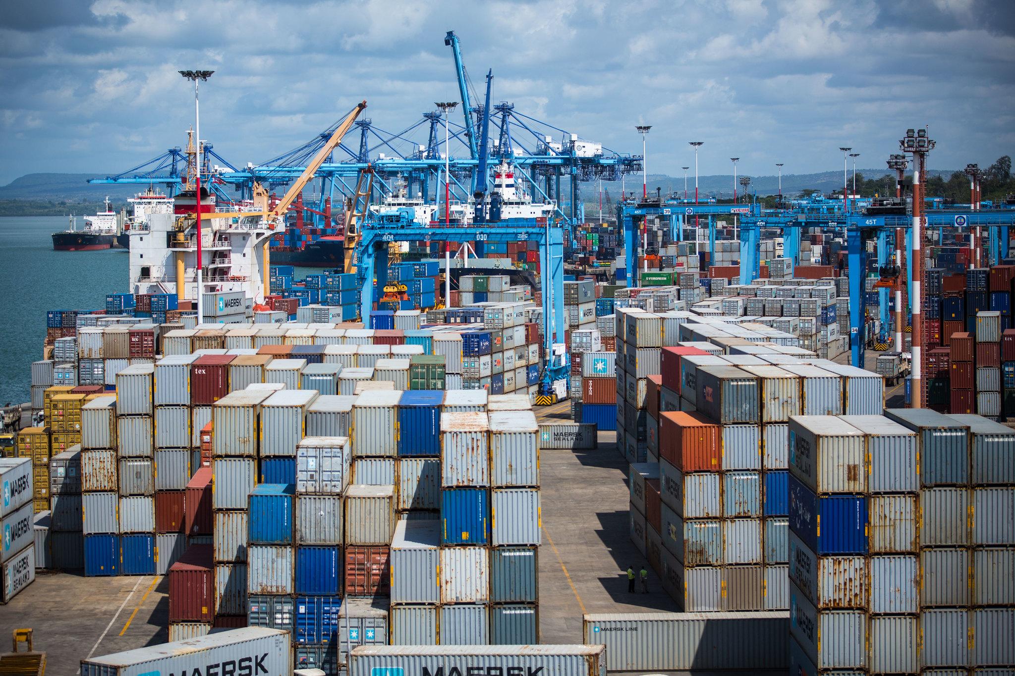 Mombasa Port on Kenya's Indian Ocean coast.