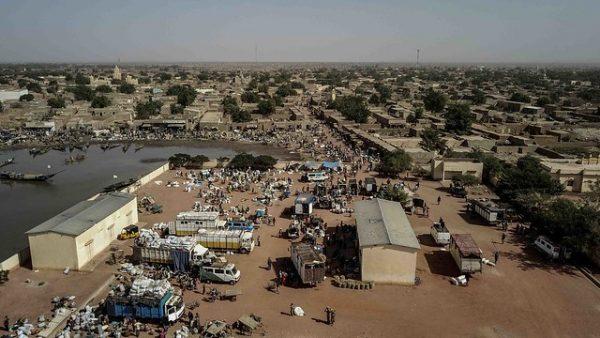 Marché à Konna, au centre du Mali.