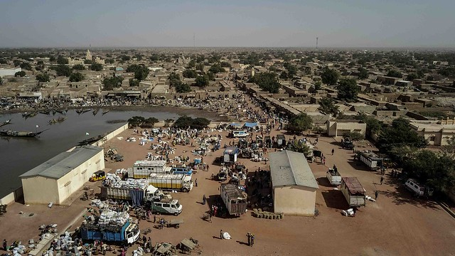 Market in Konna, central Mali.