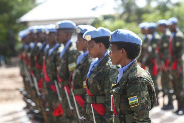 Rwandan UN peacekeepers in South Sudan.