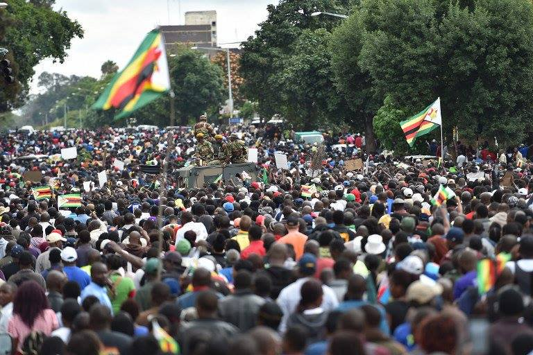 Protests in Zimbabwe, 2017.