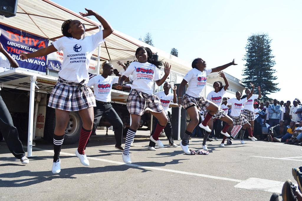 Anti-Corruption celebrations in Zimbabwe.