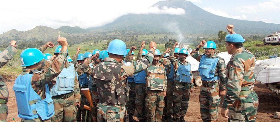 Indian contingent of MONUSCO in Goma, Congo.