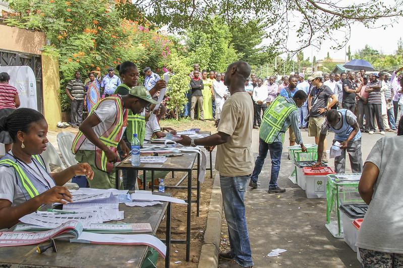 Vote en cours au Nigéria, 2015.
