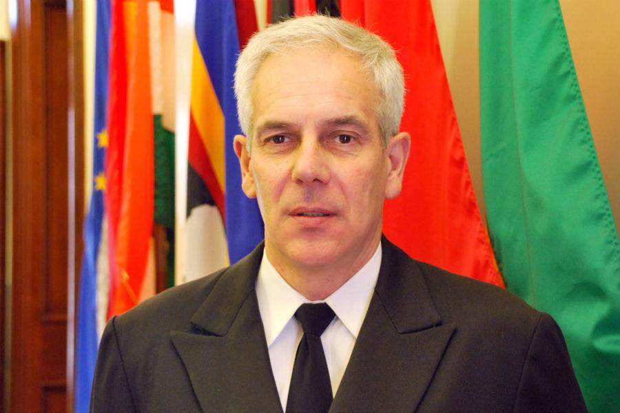 Capt. Joaquim Pacheco Santos, Senior Portuguese Representative