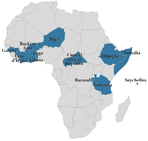 Map - Elections in Africa in 2020