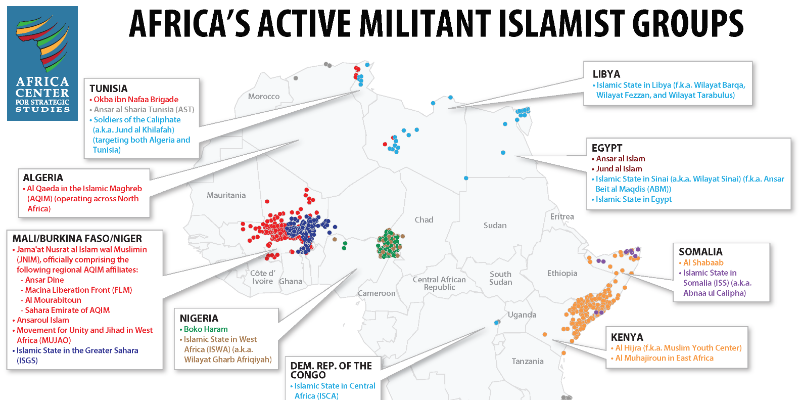 Threat from African Militant Islamist Groups Expanding, Diversifying