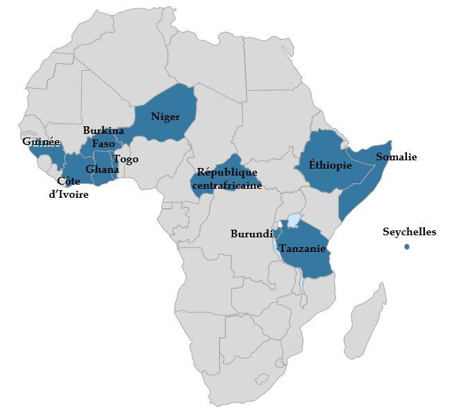 Carte - Elections en Afrique en 2020