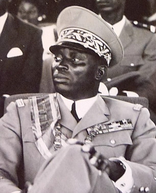 Faure Gnassingbé's father Gnassingbé Eyadema in 1972, five years after becoming president of Togo