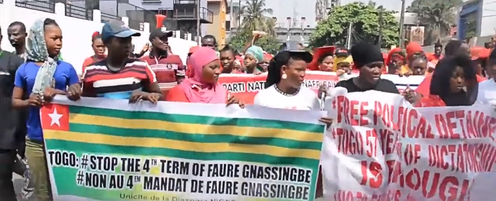 Togolese protest Gnassingbe