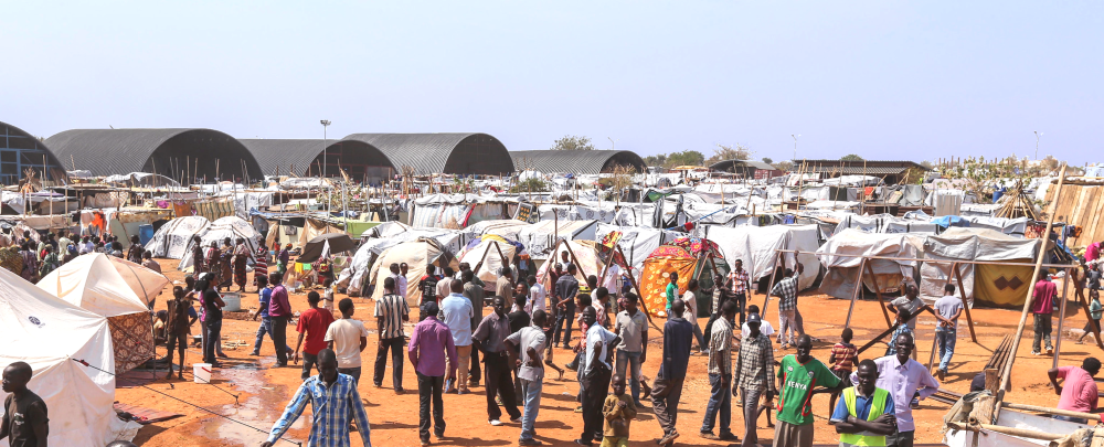 A camp for internally displaced persons in Juba, South Sudan