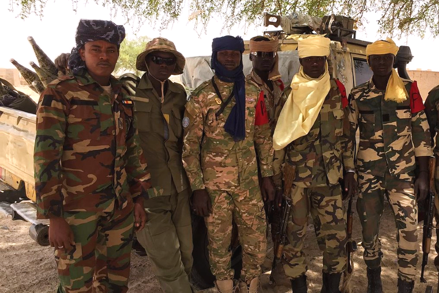 Chadian soldiers in Bosso, Niger