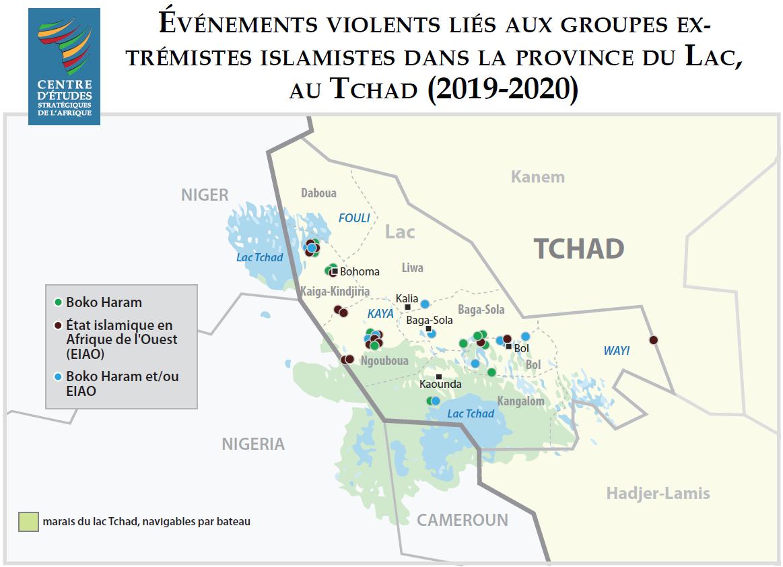 Événements violents liés aux groupes extrémistes islamistes dans la province du Lac au Tchad (2019–2020)