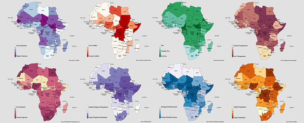 Mapping Risk Factors for the Spread of COVID-19 in Africa