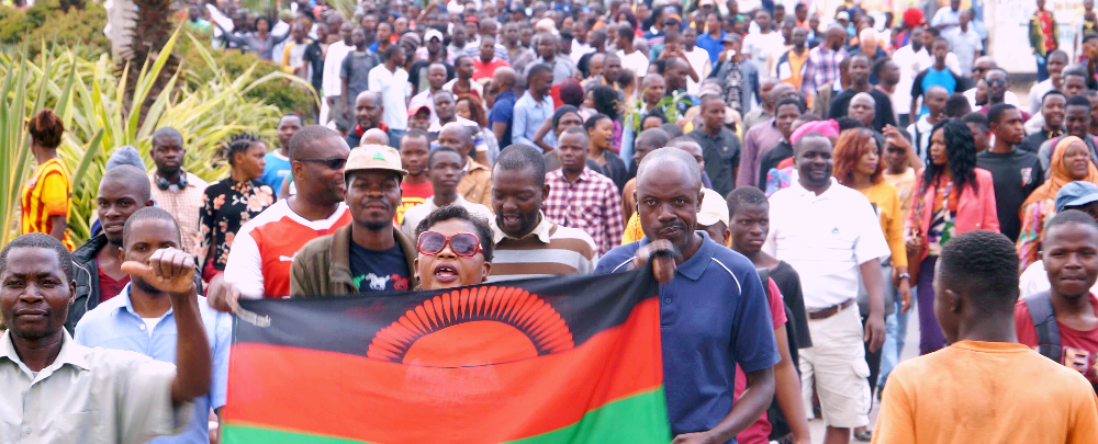 Malawians protesting