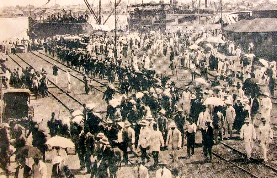 Nigerian Regiment returning to Lagos in 1918