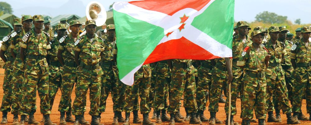 Members of the Burundi military