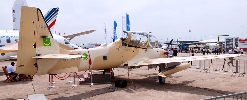 A Mauritanian Air Force Embraer A-29B Super Tucano