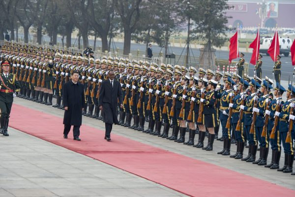 President Kagame received by President Xi Jinping of China.