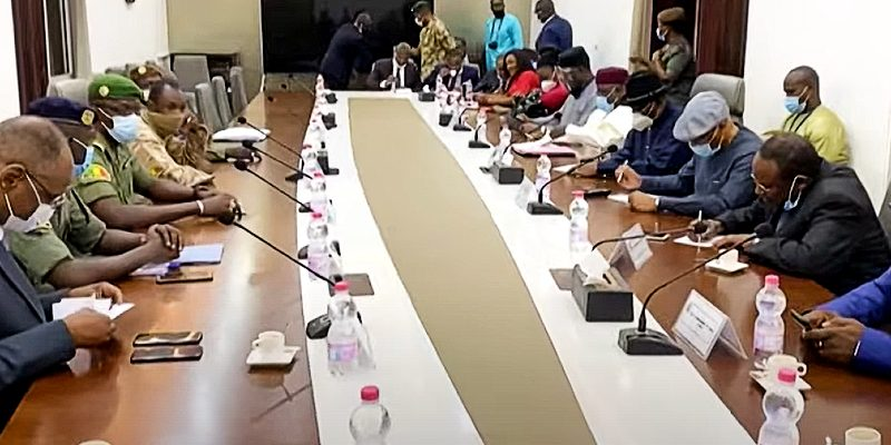 Mali coup leaders meet with ECOWAS officials.