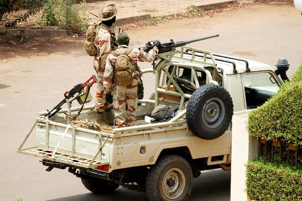 Malian soldiers in Bamako during a previous coup in October 2012