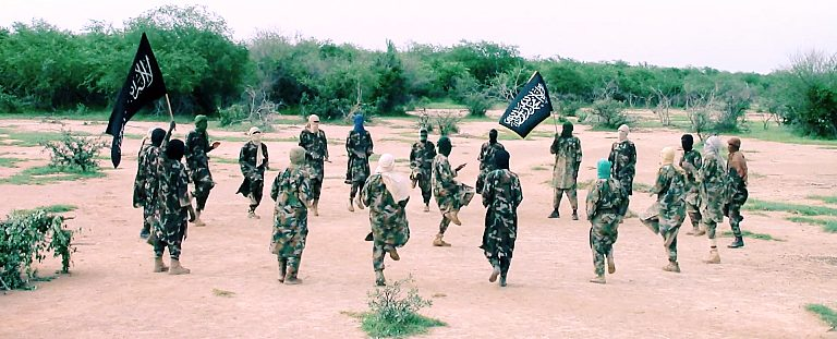 JNIM militants at a training camp in central Mali