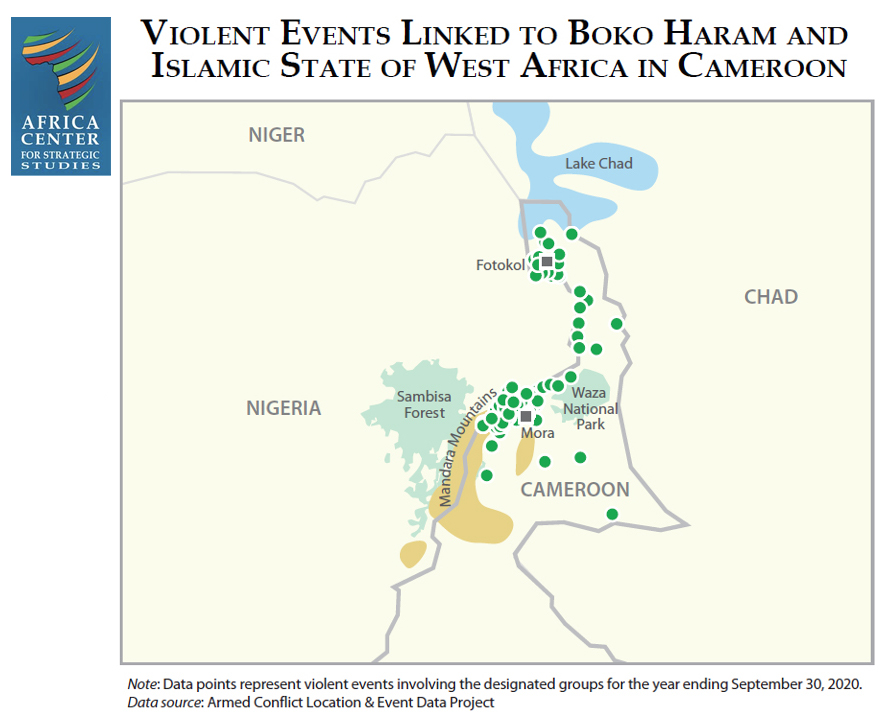 Violent Events Linked to Boko Haram and Islamic State of West Africa in Cameroon