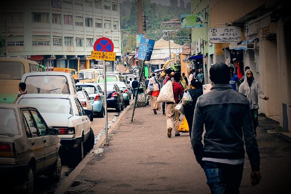 A street in Addis Ababa, Ethiopia