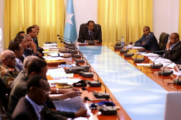 A meeting between Somali Federal Government and Federal Member States in 2017