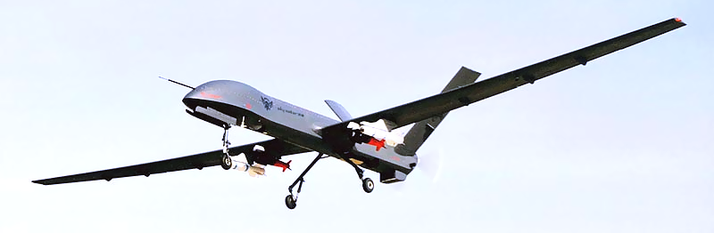 An example of the Chinese-made CASC CH-3 drone, used by the Nigerian Air Force. (Photo: tvd.im)