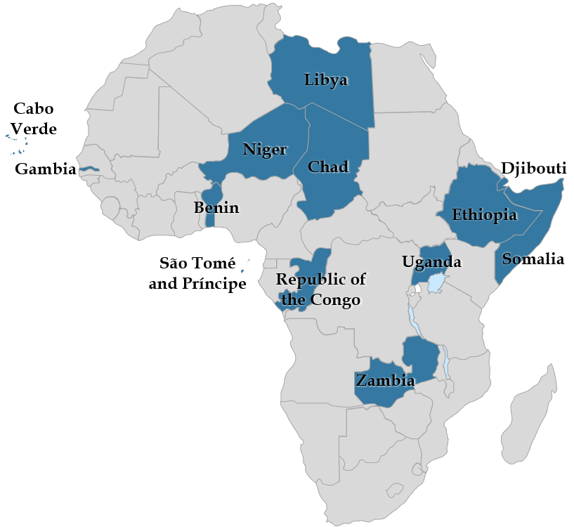 Map - Elections in Africa in 2021