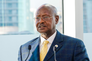 Long-ruling Uganda President Yoweri Museveni