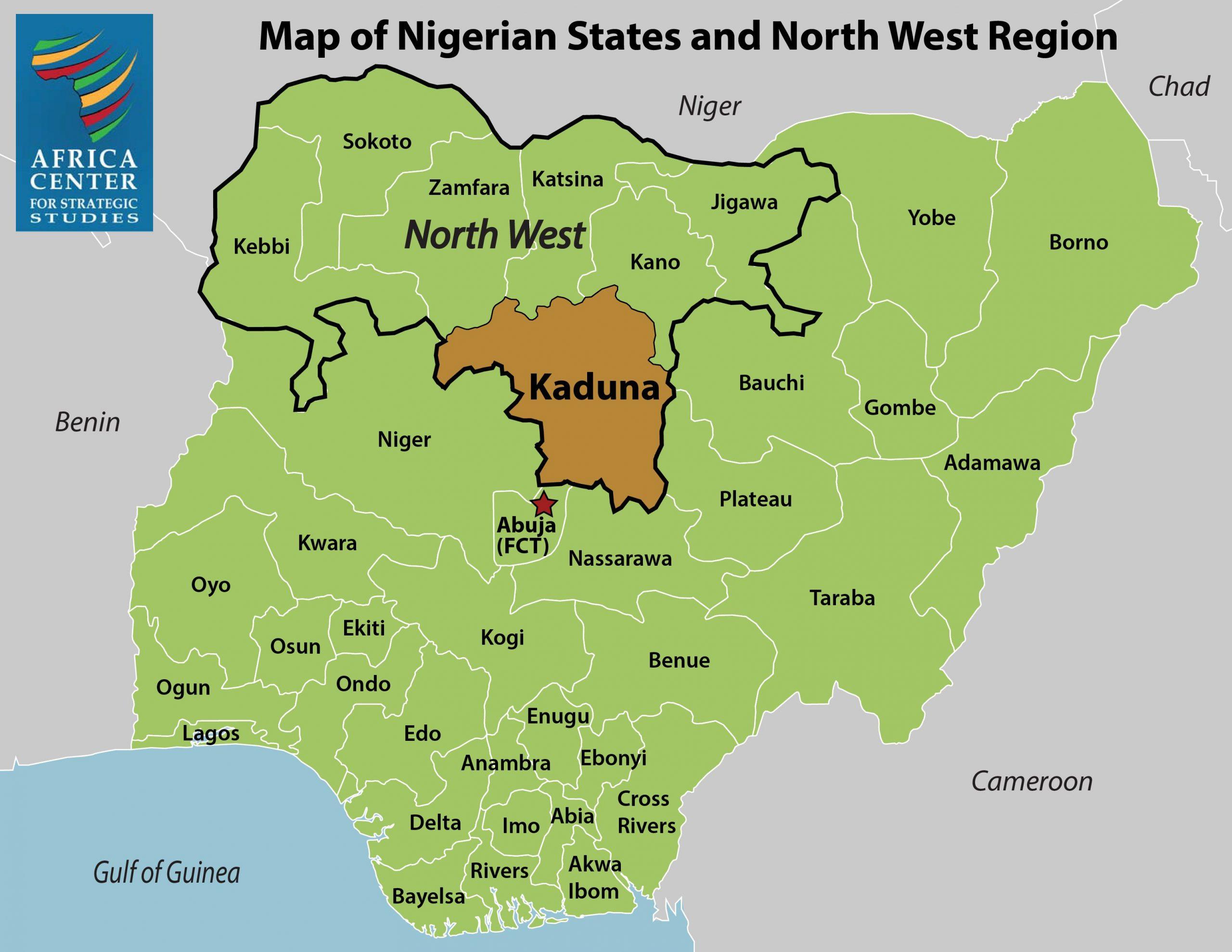 Map - Kaduna, Nigeria