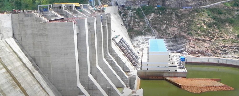 The Bui dam in Ghana, cofunded by the Government of Ghana and Sinohydro.