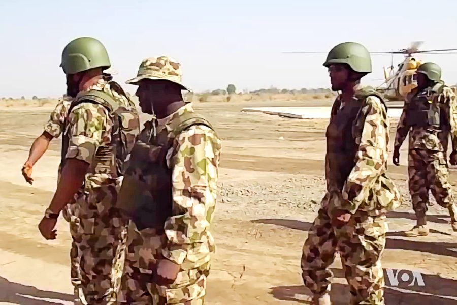 Nigerian soldiers near the Sambisa Forest
