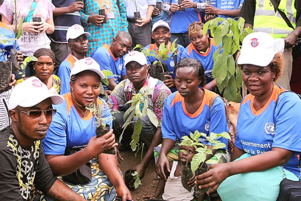 A youth tree-planting exercise in Goma, DRC.
