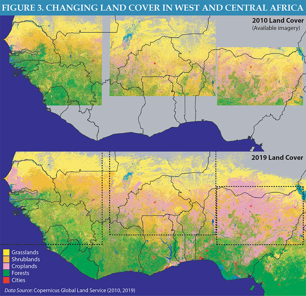 Figure 3 - Changing Land Cover in West and Central Africa