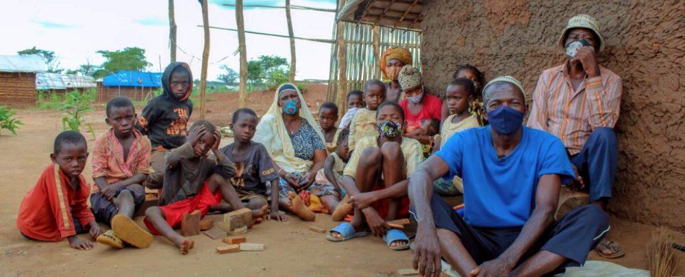 A displaced family in Cabo Delgado, Mozambique