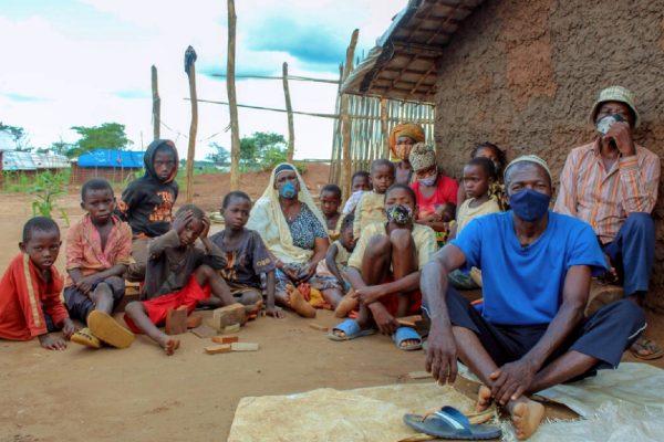 A displaced family in Cabo Delgado