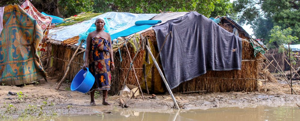 A woman displaced by violence in northern Mozambique