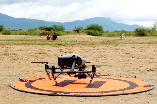 A drone used for humanitarian work in Malawi